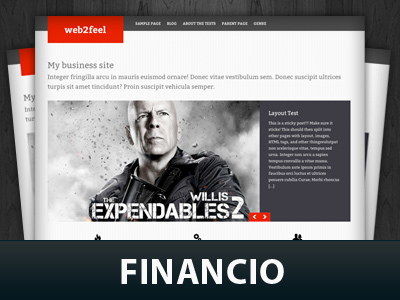 Best WordPress template Financio
