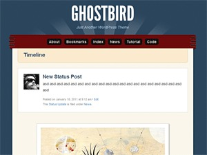 Best WordPress template Ghostbird