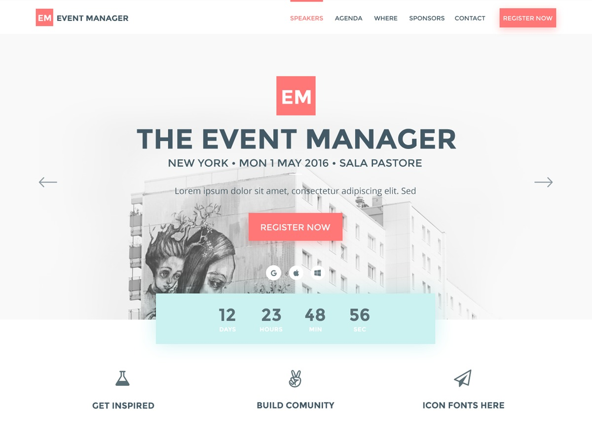 Best WordPress theme Conference Pro