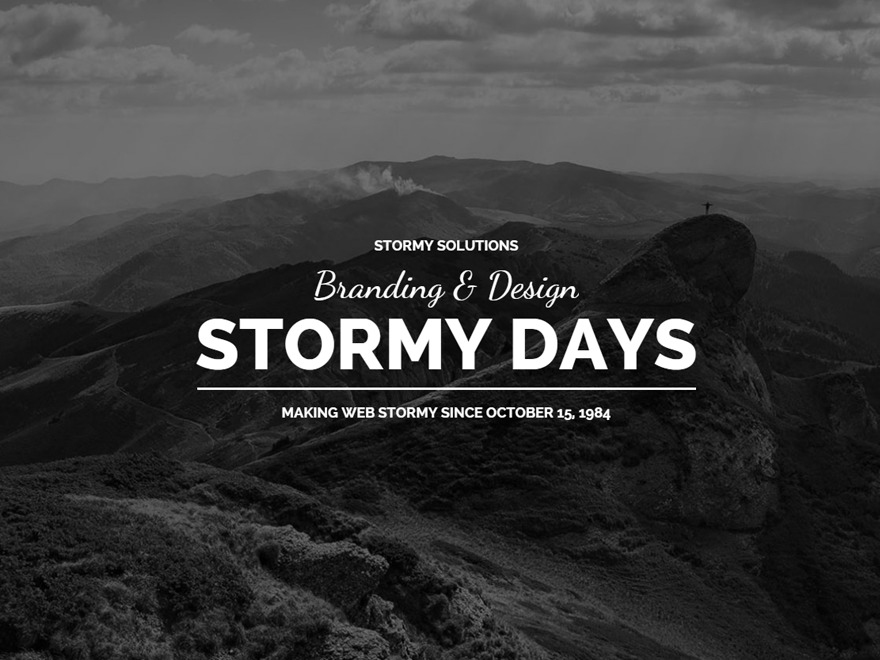 Best WordPress theme Stormday - Wordpress Theme