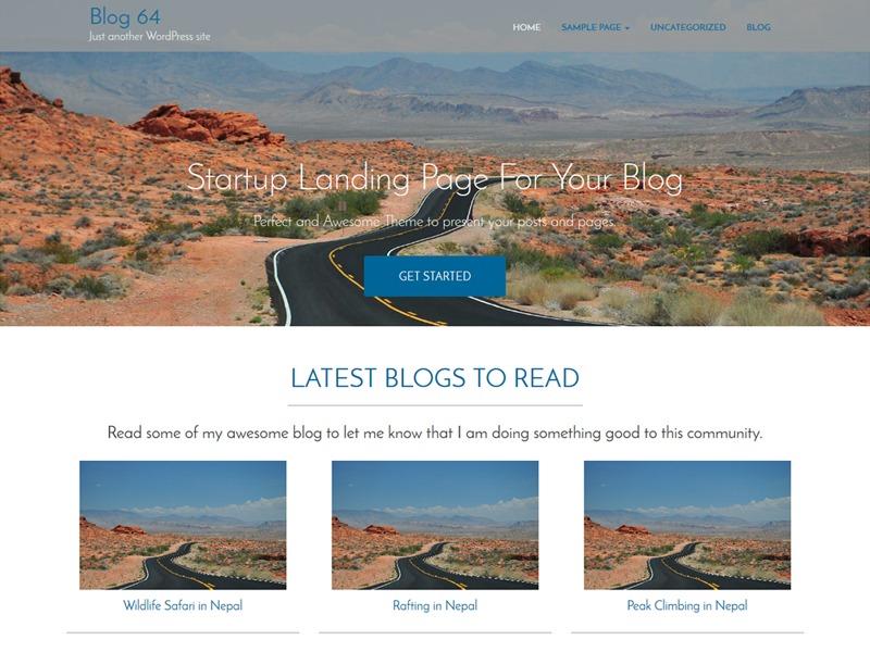 blog64 WordPress photo theme
