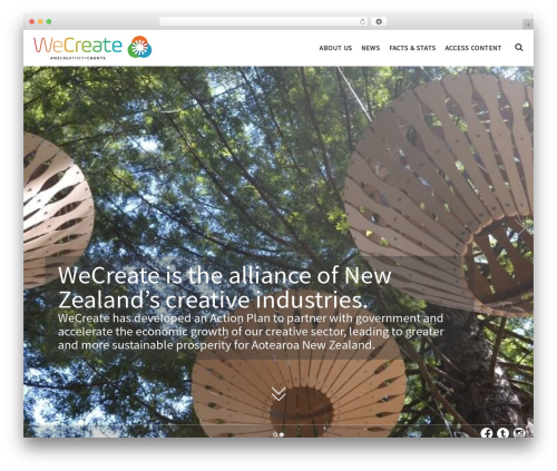 () Bouncy WordPress theme - wecreate.org.nz
