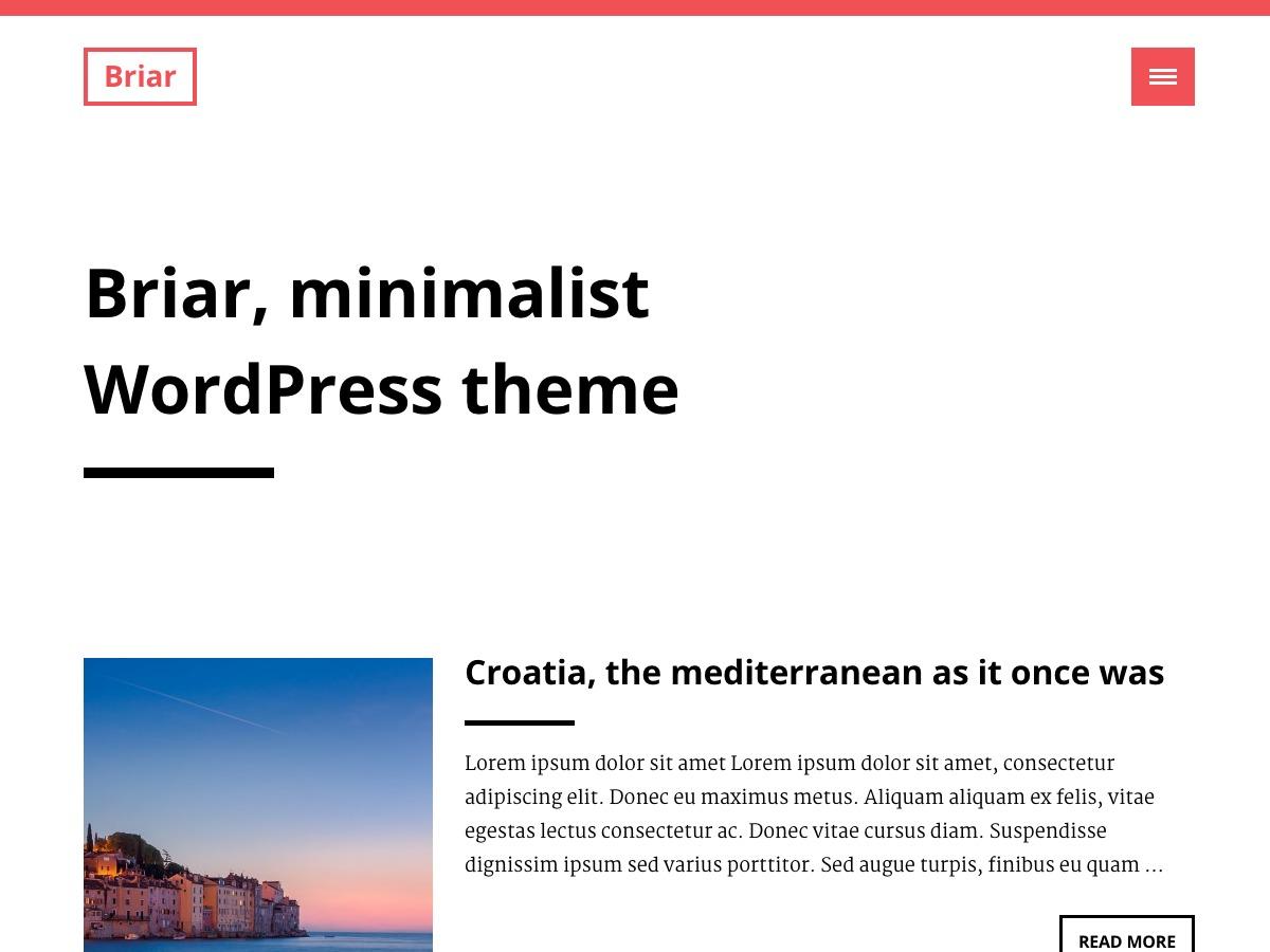 Briar template WordPress free