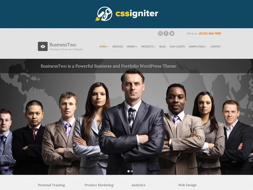 BusinessTwo company WordPress theme