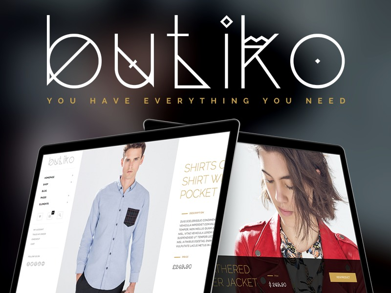 Butiko WordPress shopping theme