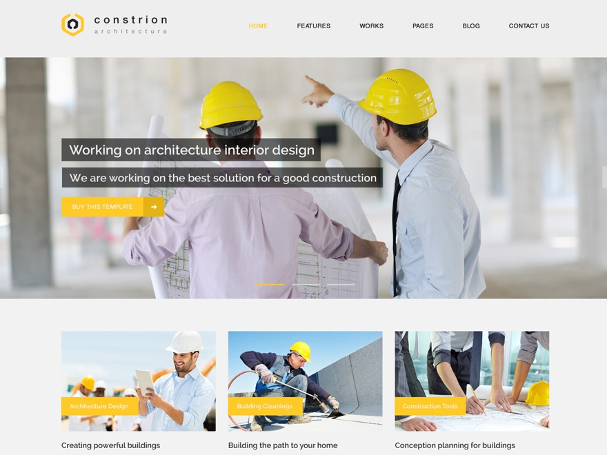 Constrion template WordPress