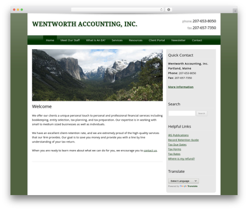 Customized theme WordPress - wentworthaccounting.com