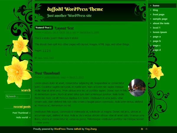 daffodil WP theme