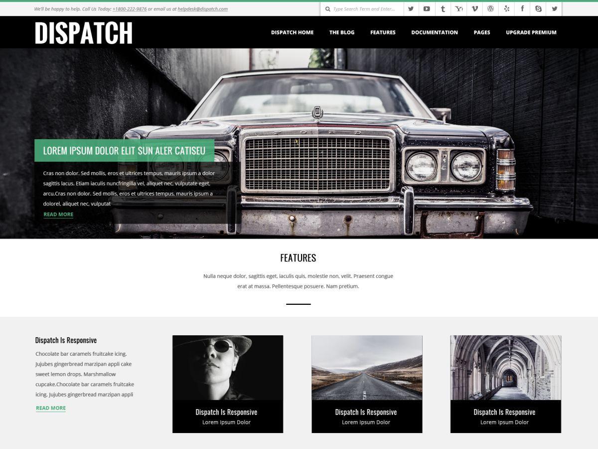 Dispatch Premium theme WordPress portfolio