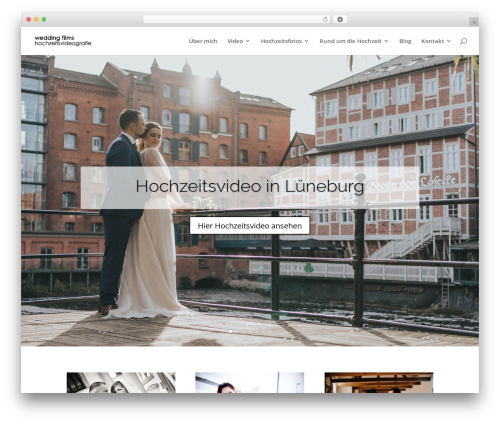 Divi best WordPress video theme - wedding-films.de