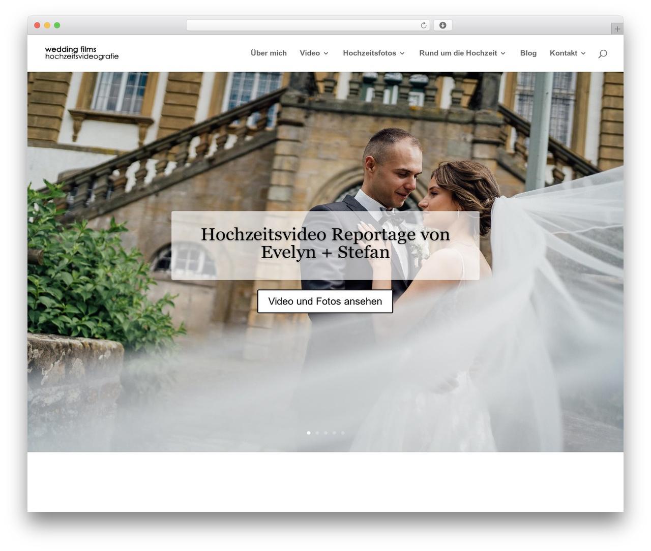 Divi best WordPress video theme - wedding-films.de