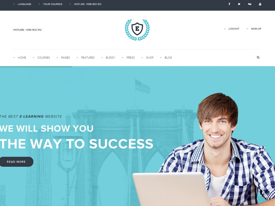 eLearningWP template WordPress