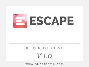 Escape WordPress theme design