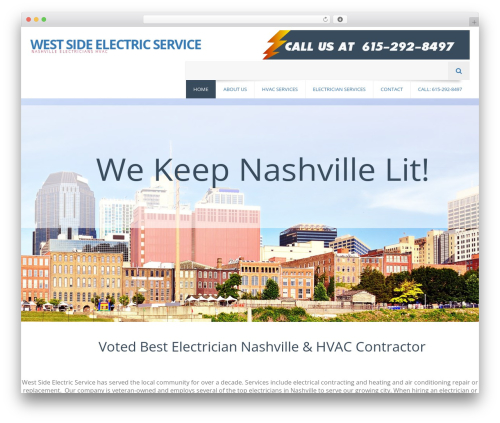 EXCEPTION WordPress template for business - westsideelectricservice.com