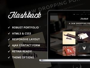 Flashback personal blog WordPress theme