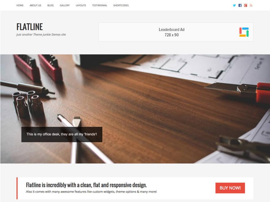 FlatLine company WordPress theme