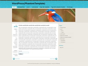 FloatingLight WordPress template