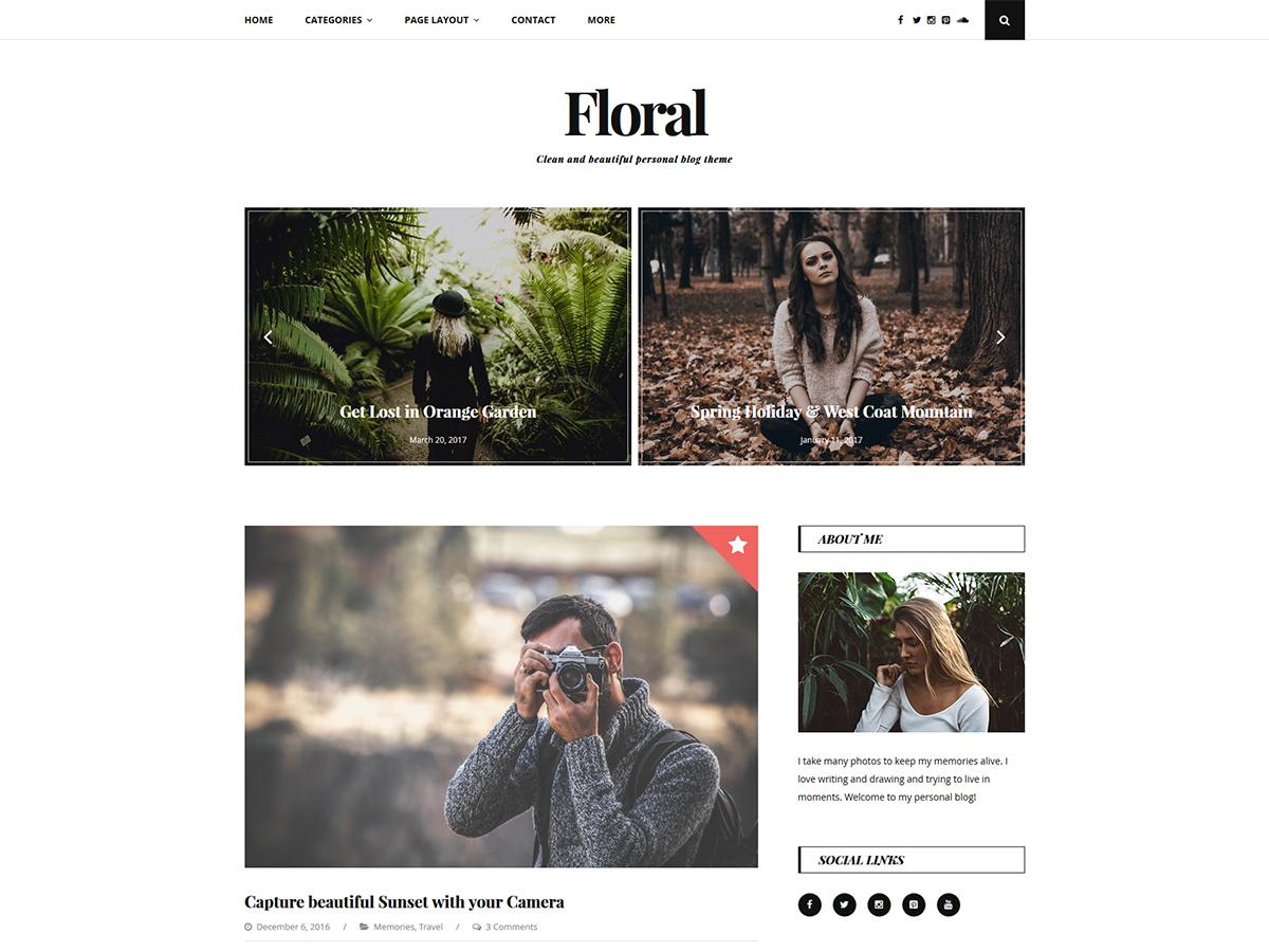 Floral Lite free WP theme