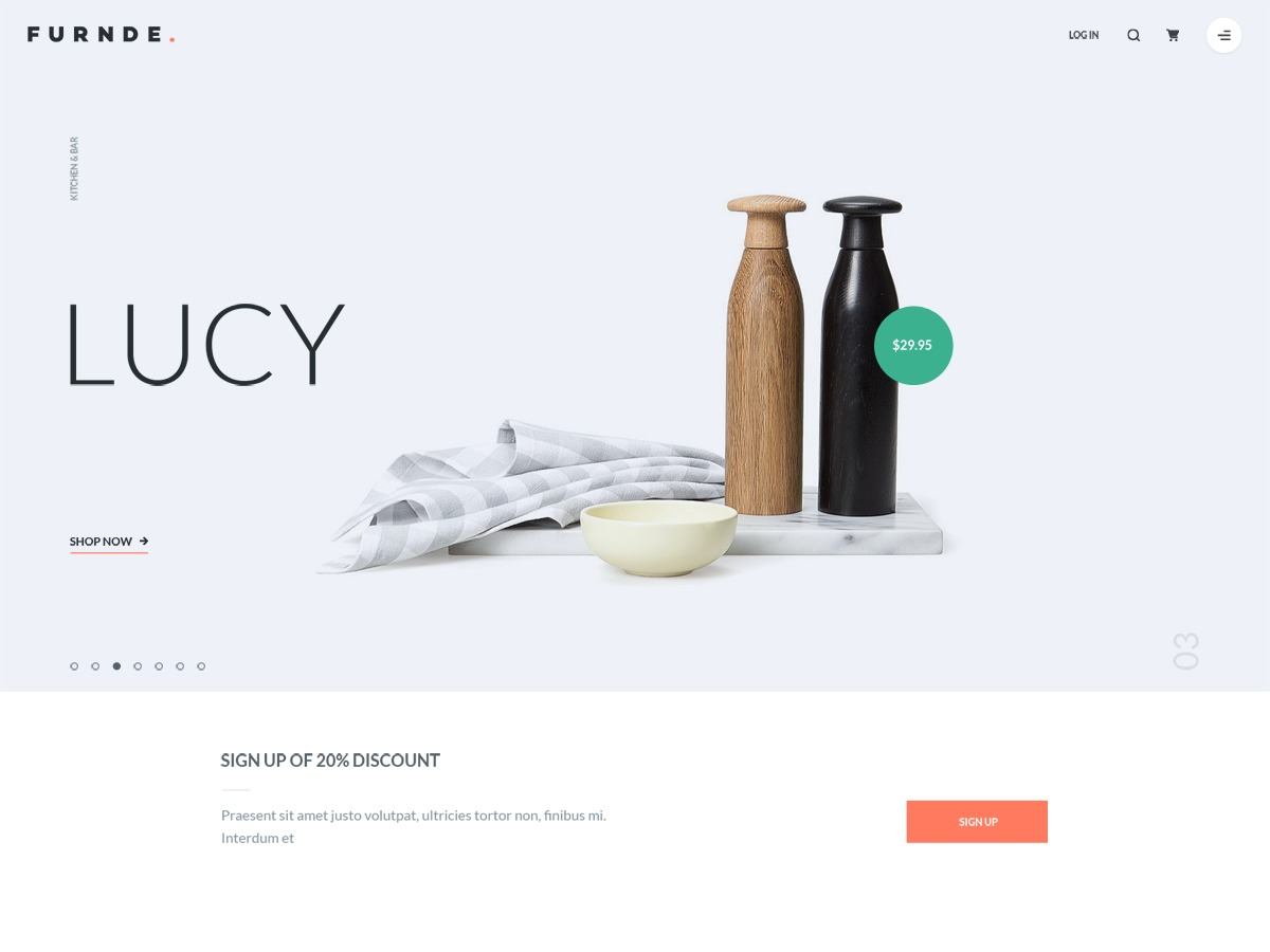 Furnde best WooCommerce theme