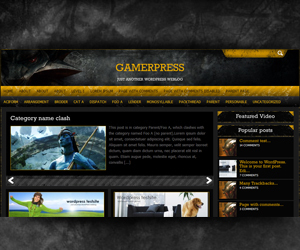 gamerpress WordPress gaming theme
