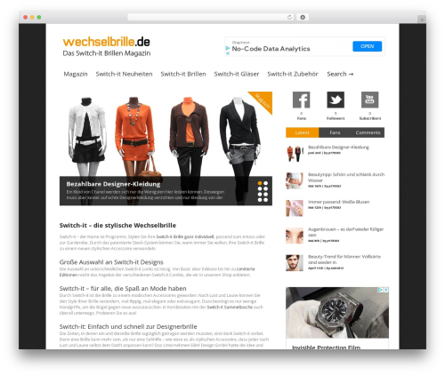 WordPress simple-ads-manager plugin - wechselbrille.de