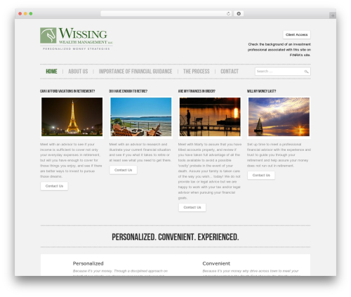 Hannari WordPress theme - wissingwealthmanagement.com