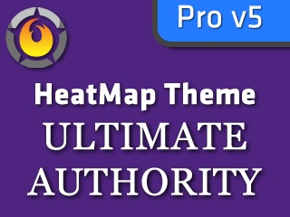 HeatMap Ultimate Authority Purple (HMT Pro Skin) WordPress theme design