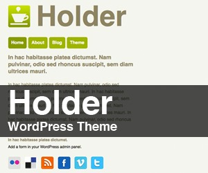 Holder WordPress page template