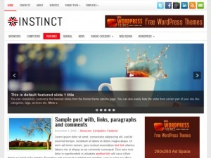 Instinct WordPress blog template