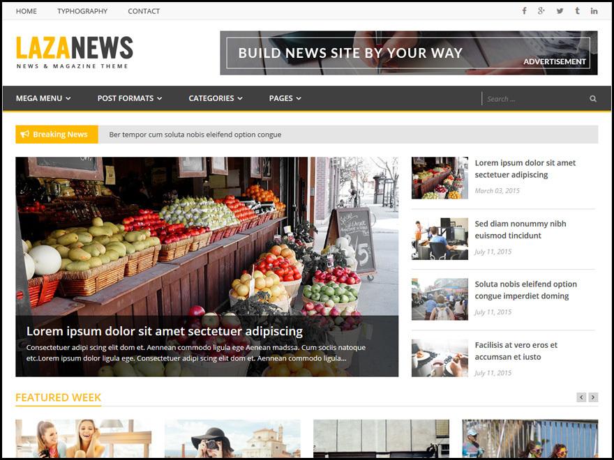 LazaNews WordPress news template
