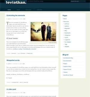 Leviathan WordPress theme