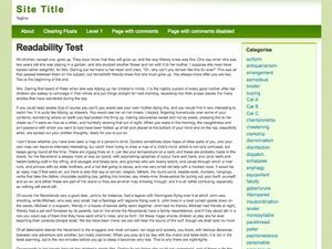 Light Green WordPress blog theme