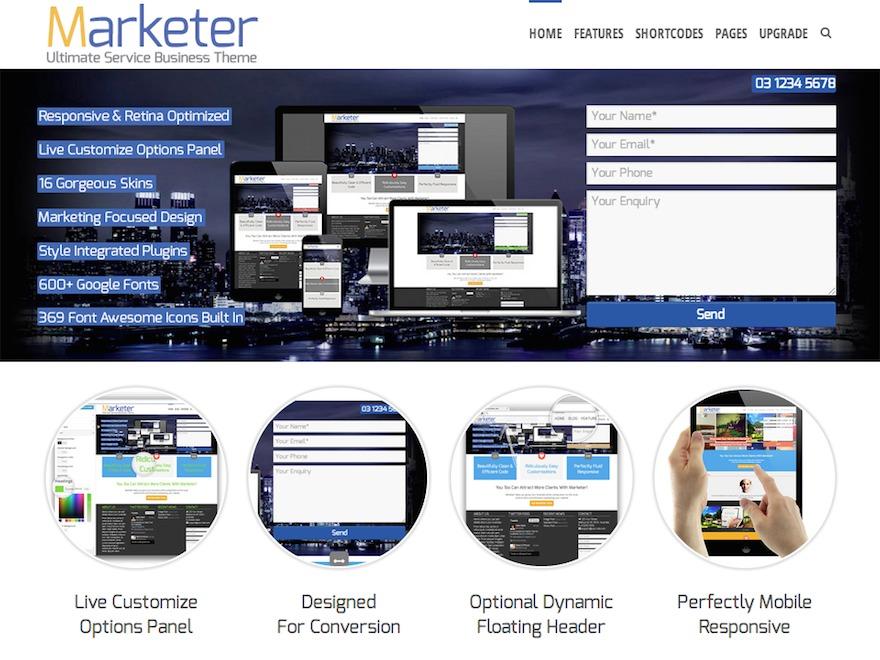 Marketer WordPress blog theme