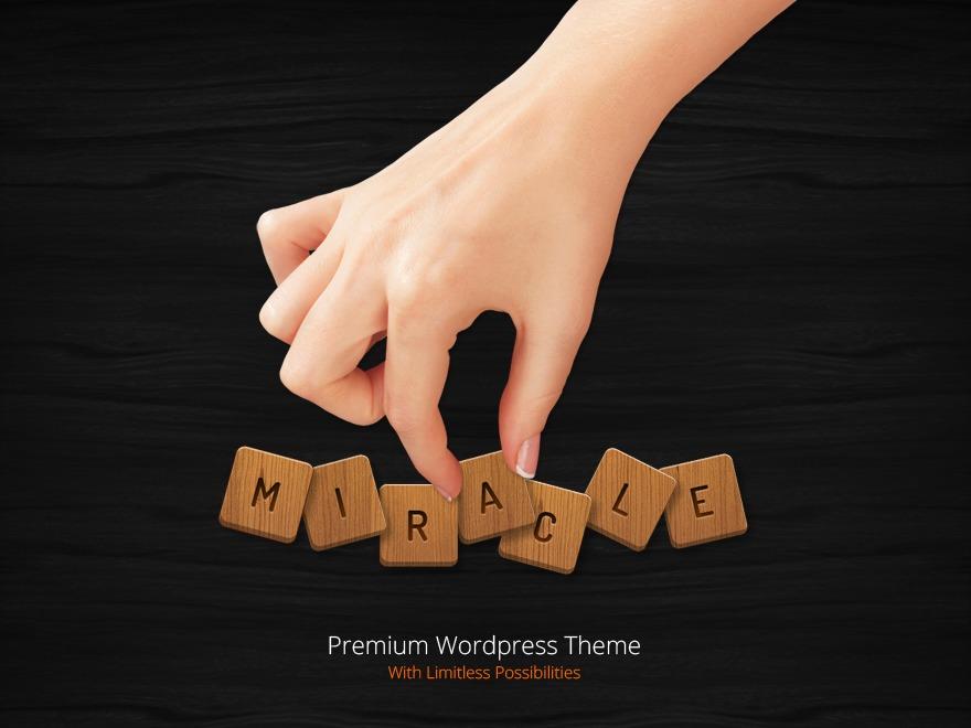 Miracle WordPress blog template