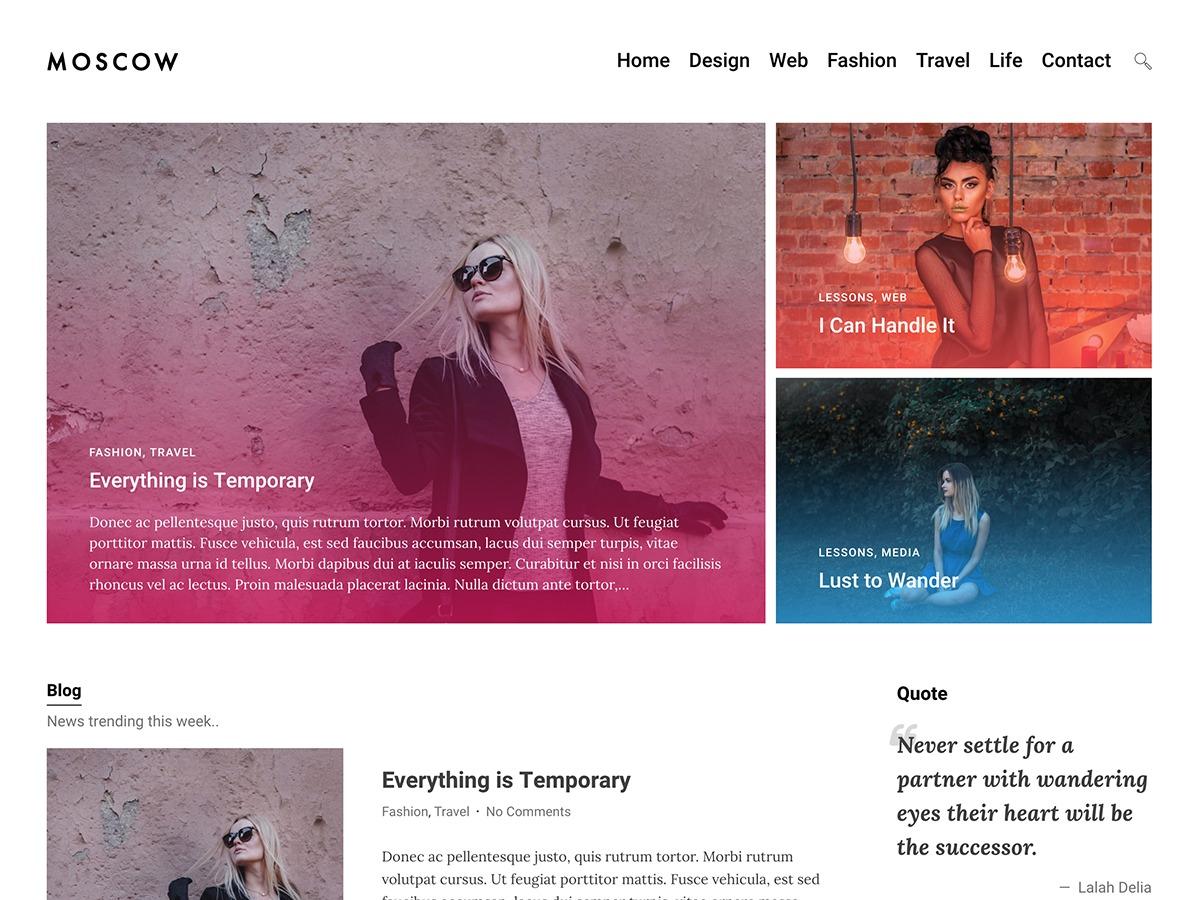 Moscow best portfolio WordPress theme