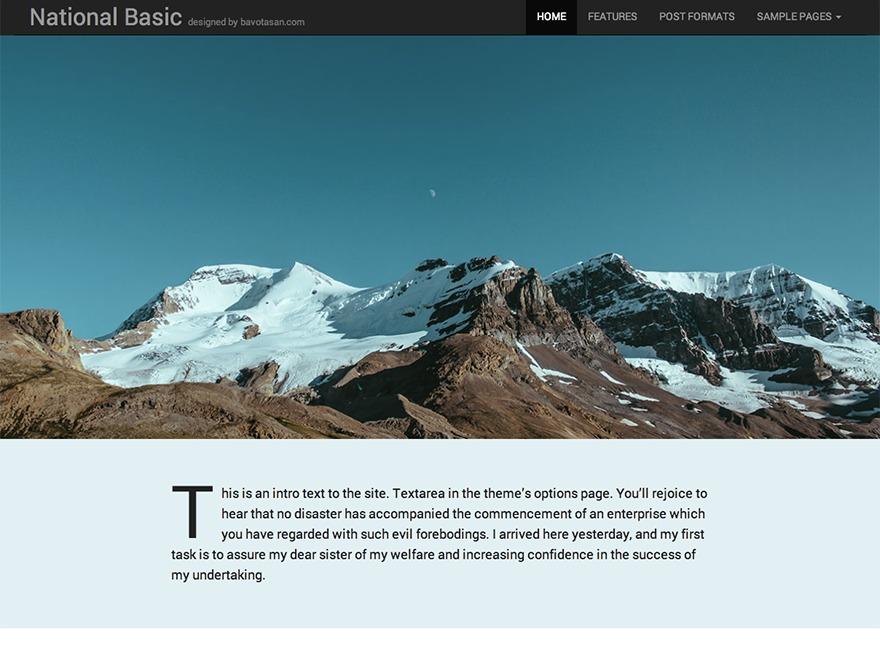 National Basic photography WordPress theme