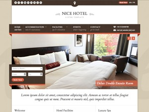 Nice Hotel (shared on wplocker.com) best hotel WordPress theme