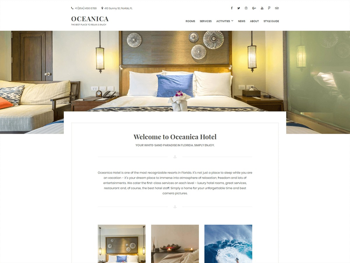 Oceanica Lite WordPress blog template