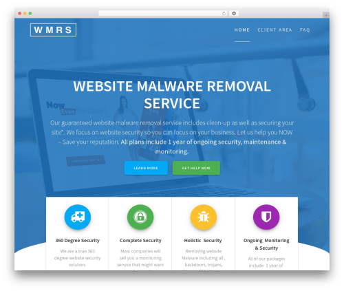 One Page Express free website theme - websitemalwareremoval.com
