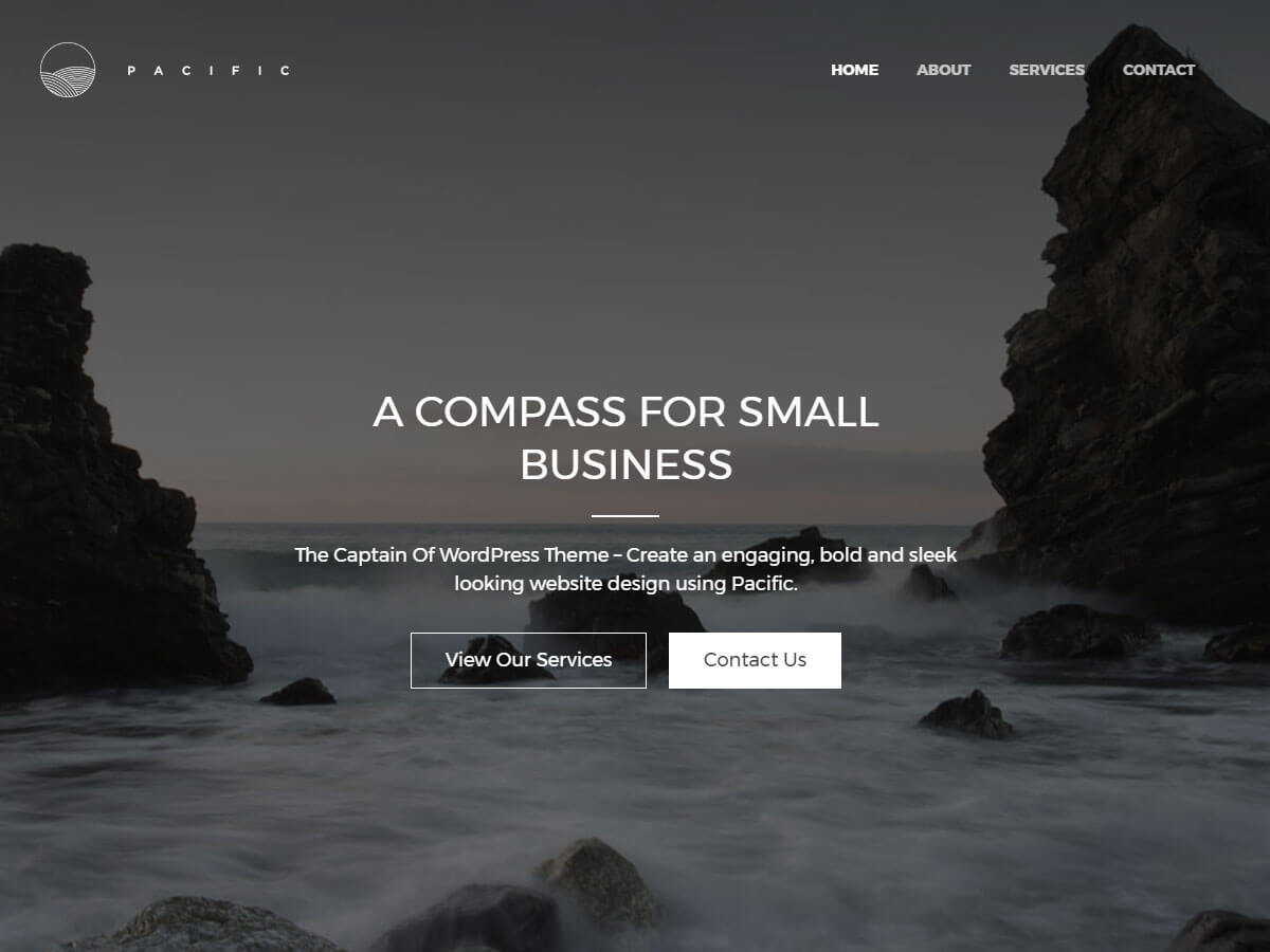 Pacific WordPress theme free download