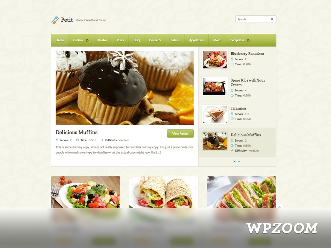 Petit WordPress blog theme