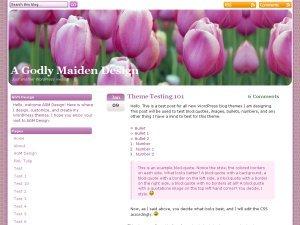 Pink Tulip theme WordPress