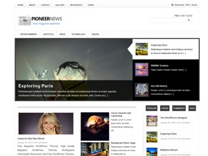 Pioneer best WordPress magazine theme