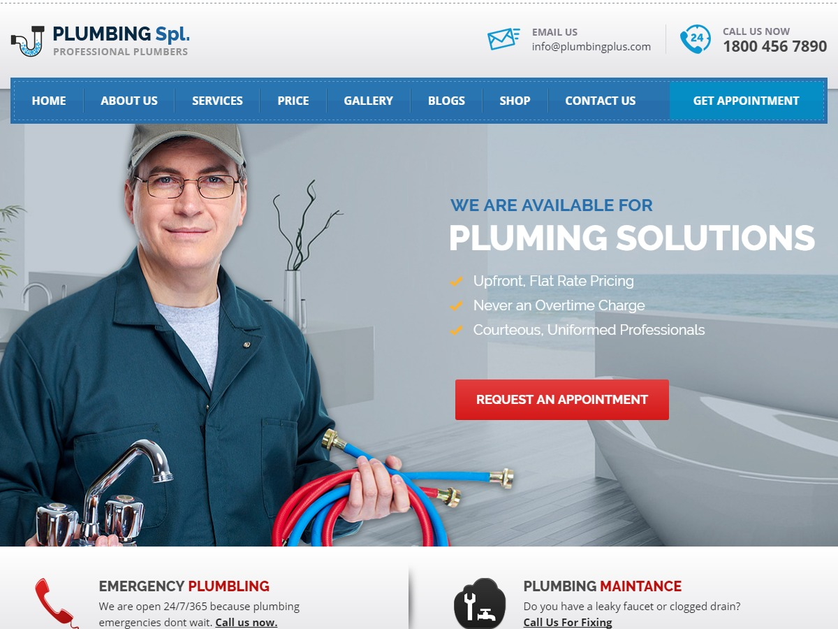 plumbing top WordPress theme