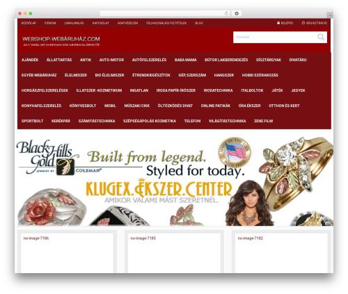 Responsive Business Theme WordPress theme - webshop-webaruhaz.com/online