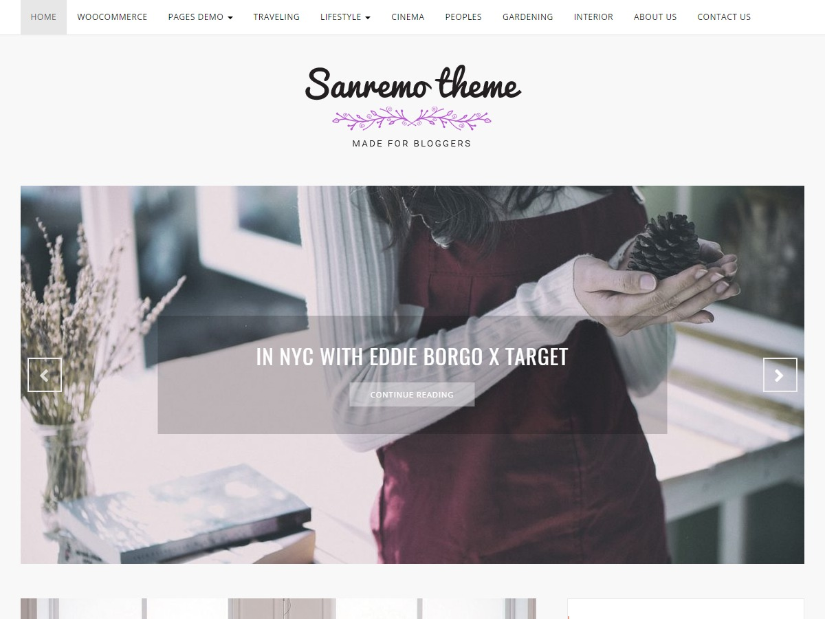 Sanremo free WordPress theme