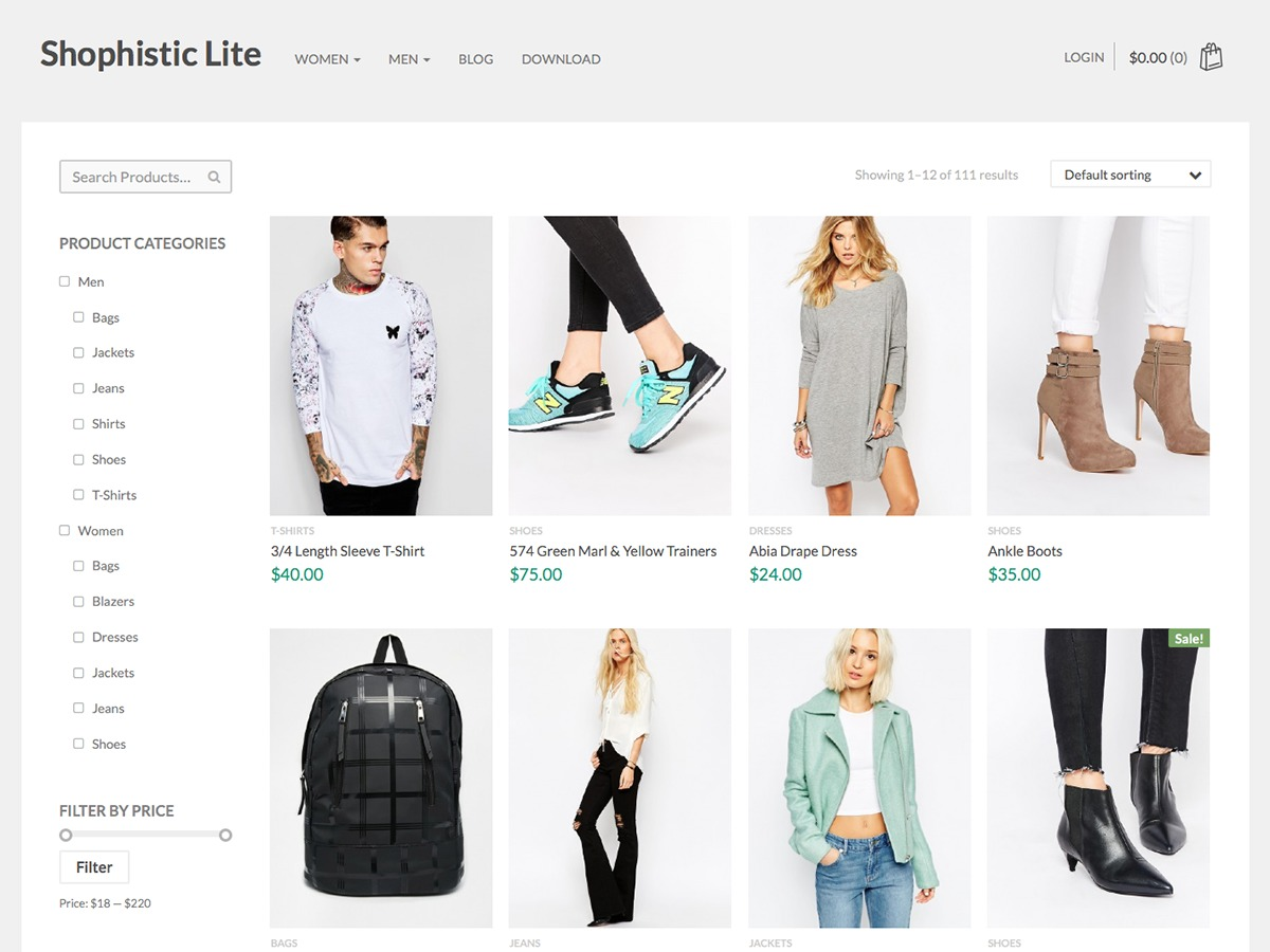 Shophistic Lite WordPress shop theme