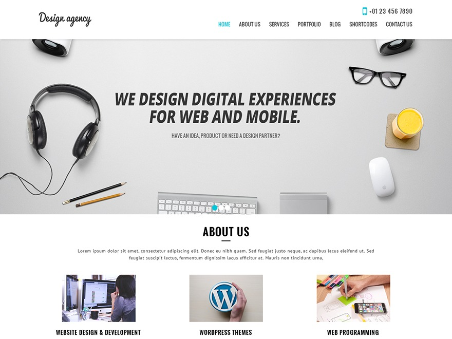 SKT Design Agency Pro WordPress gallery theme