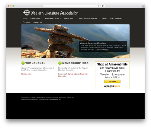 Starkers WordPress page template - westernlit.org