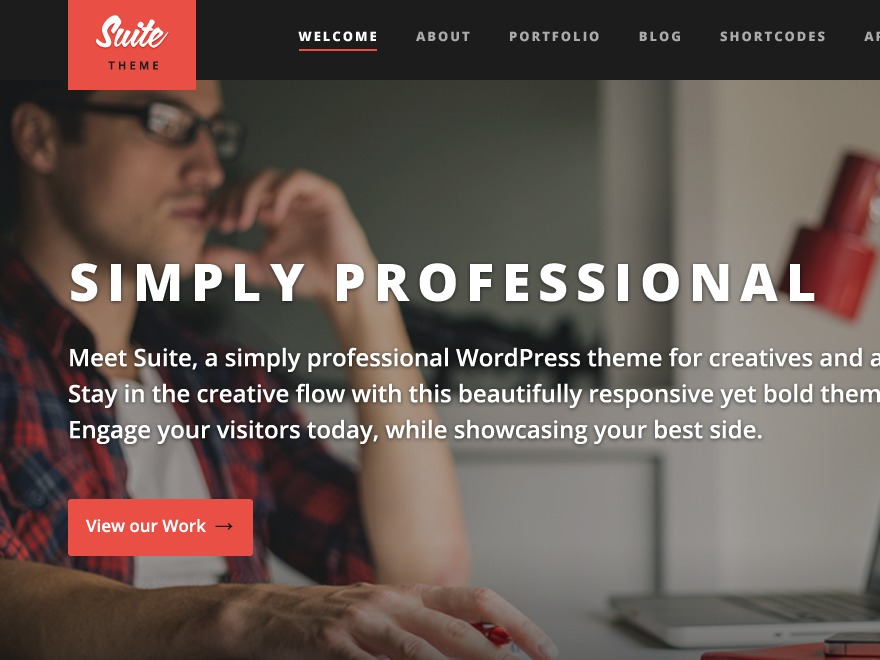 Suite theme WordPress